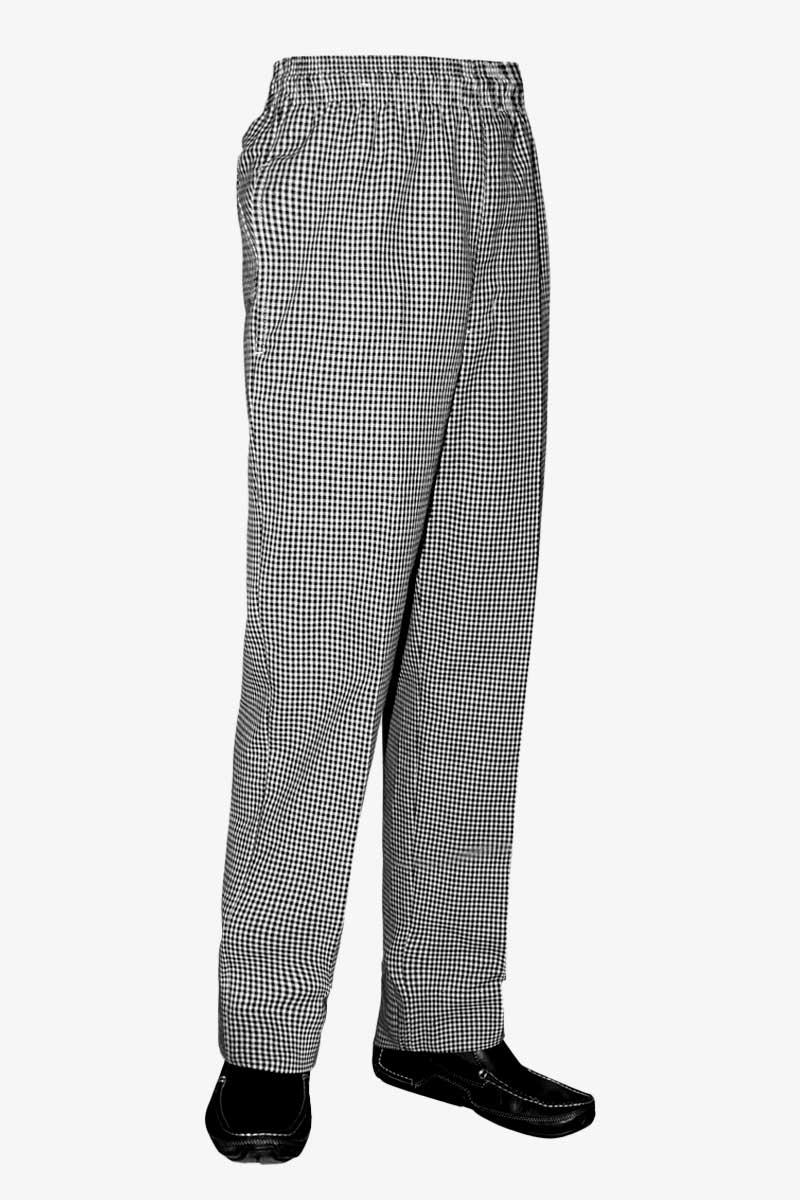 Chef Pants - Black & White Checkered