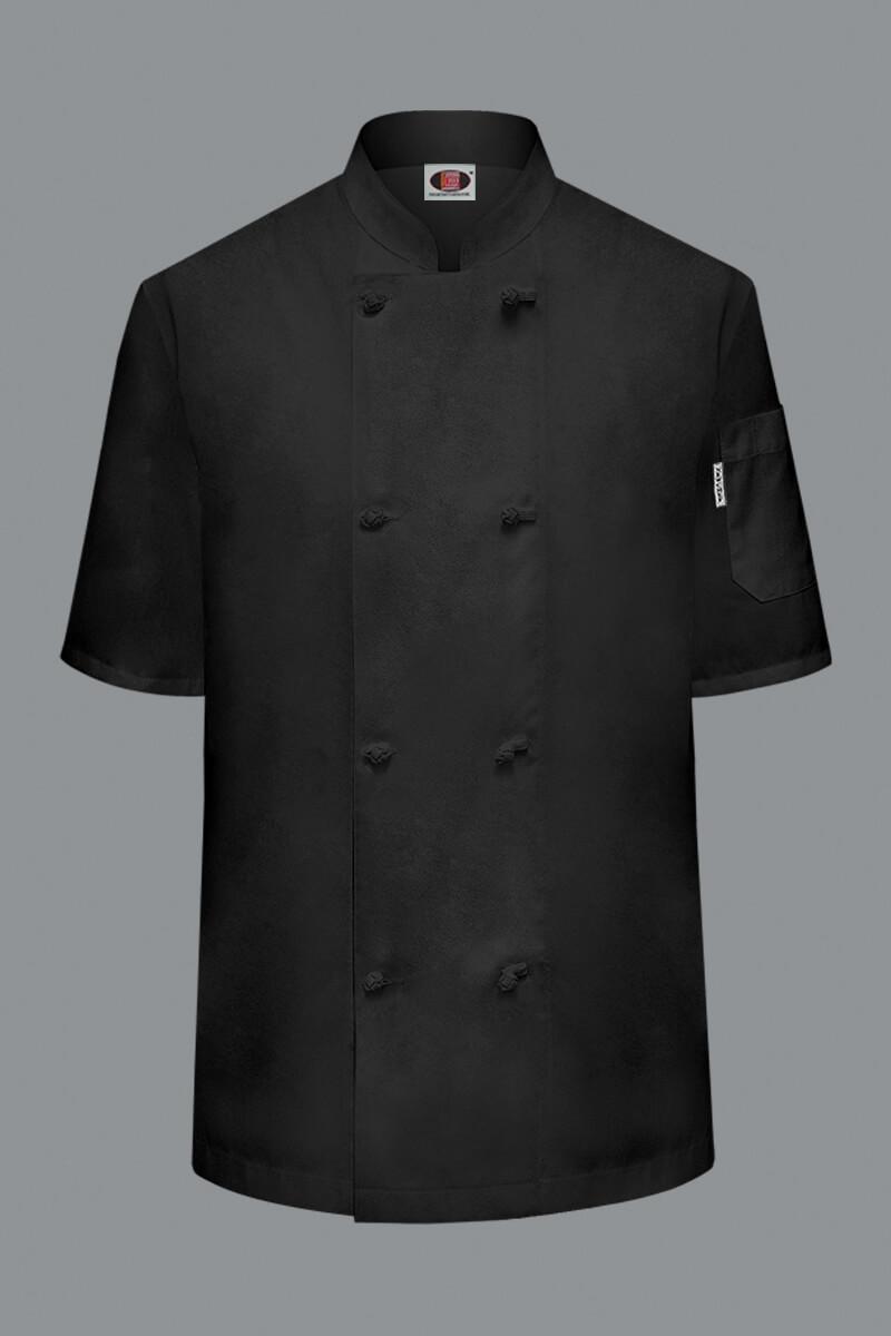 Econo Unisex Short Sleeve Chef Coat - Black