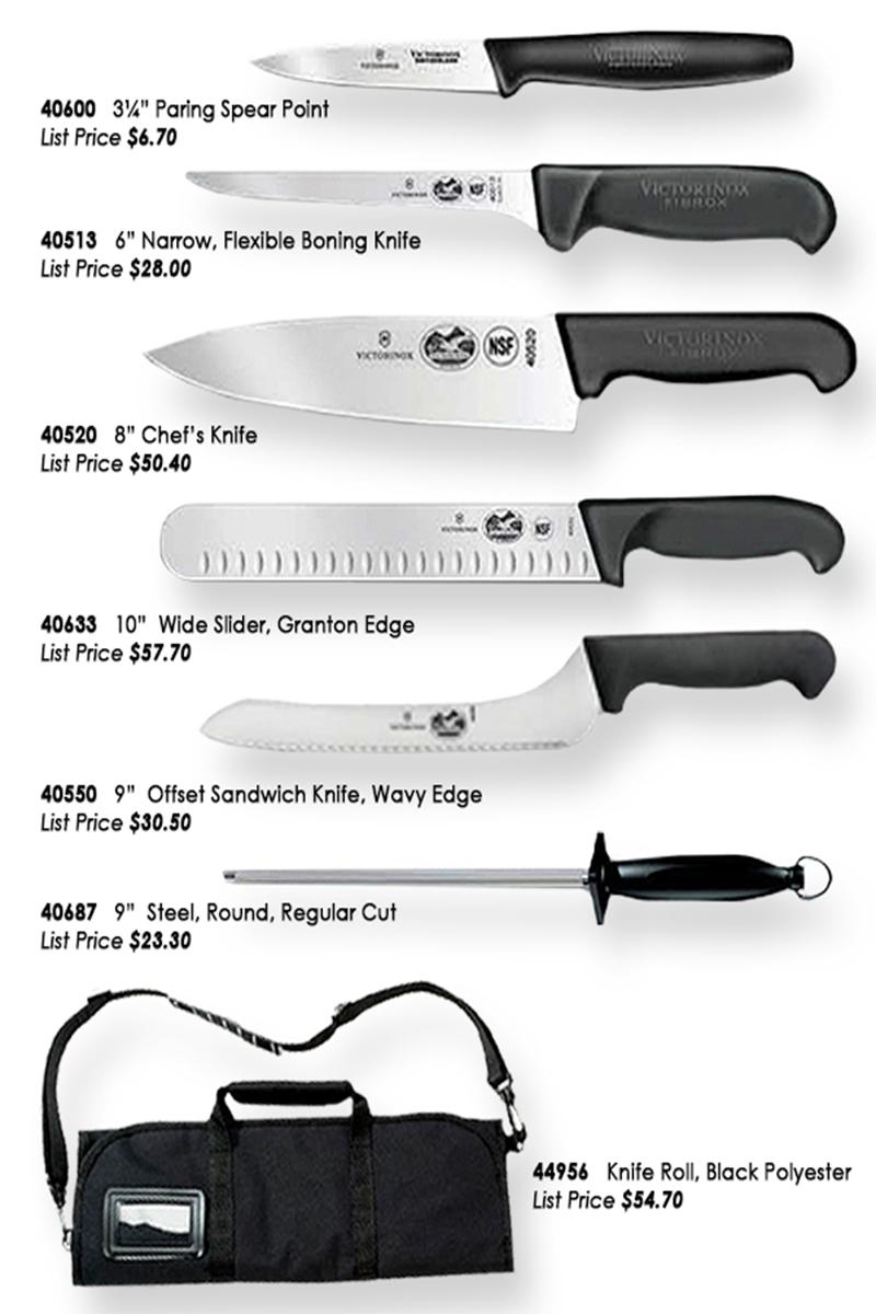 Victorinox Swiss Army Fibrox Culinary Kit