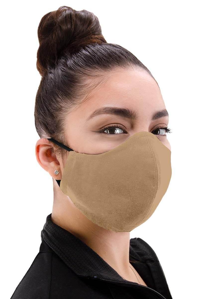 100% Cotton Facemask - Khaki