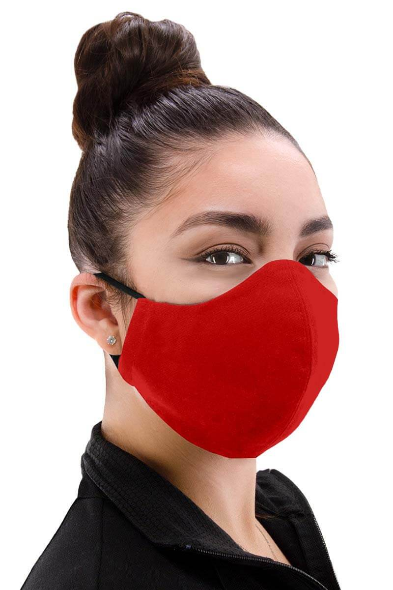100% Cotton Face mask - Red