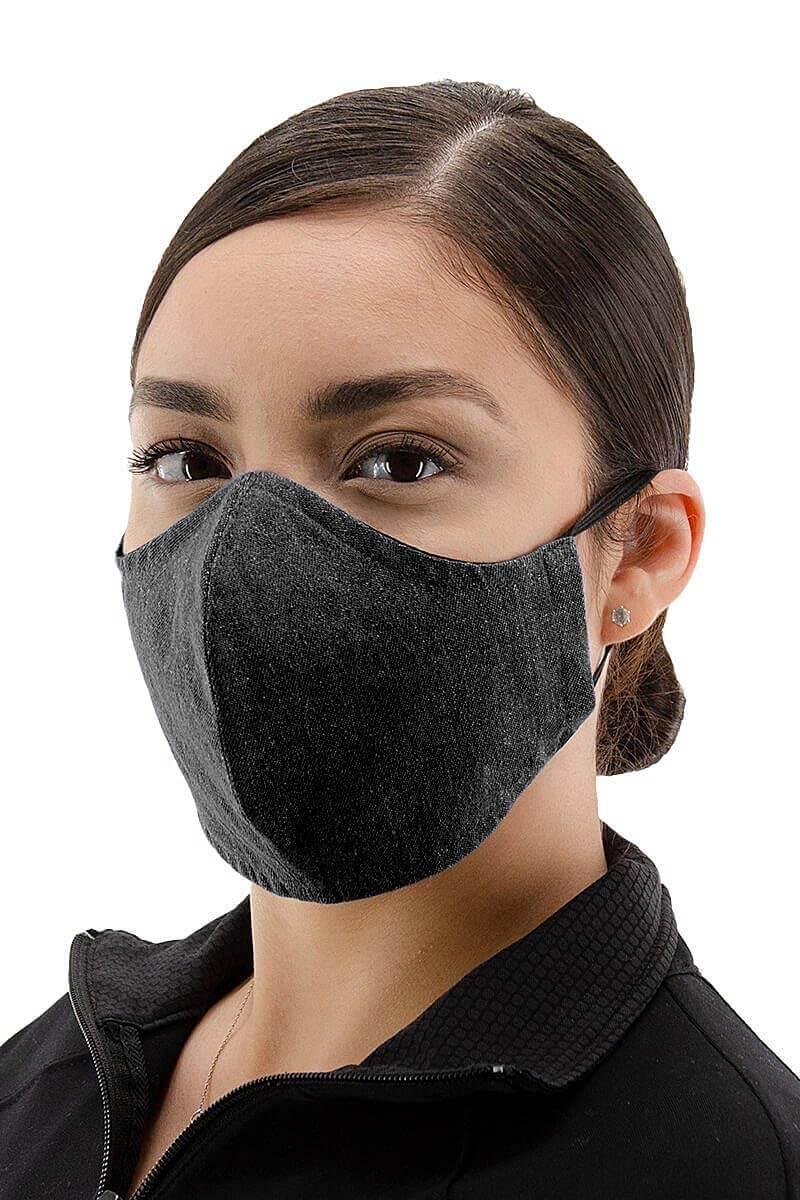 100% Cotton Face Mask - Denim Black