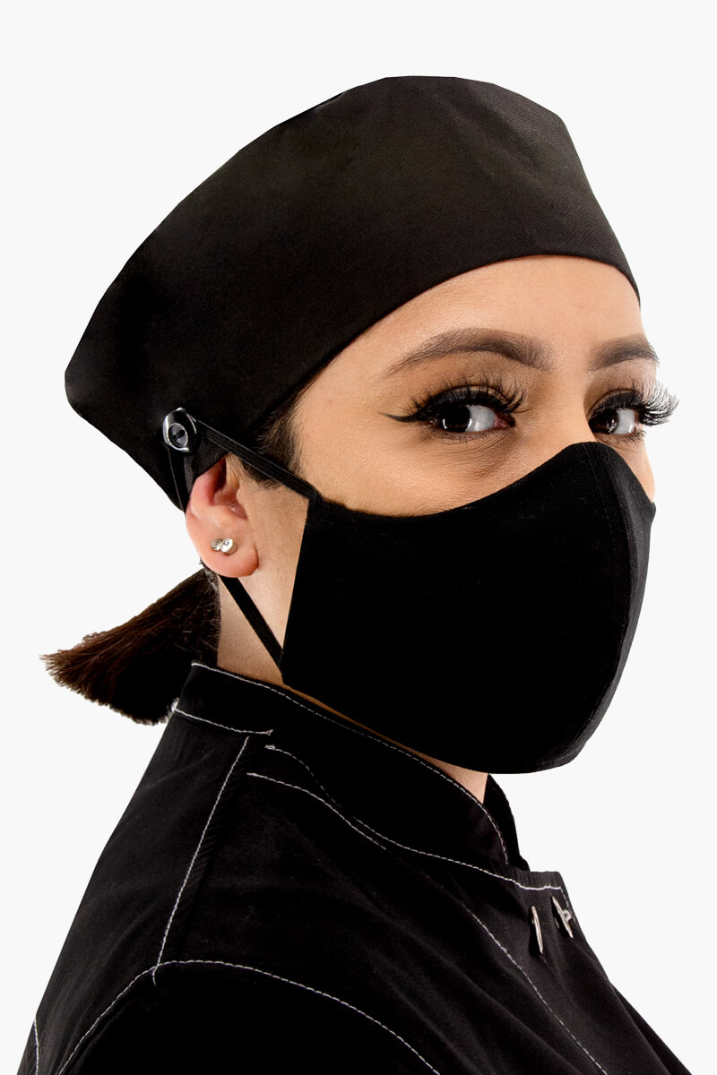 Baker's Hat w/Facemask Buttons
