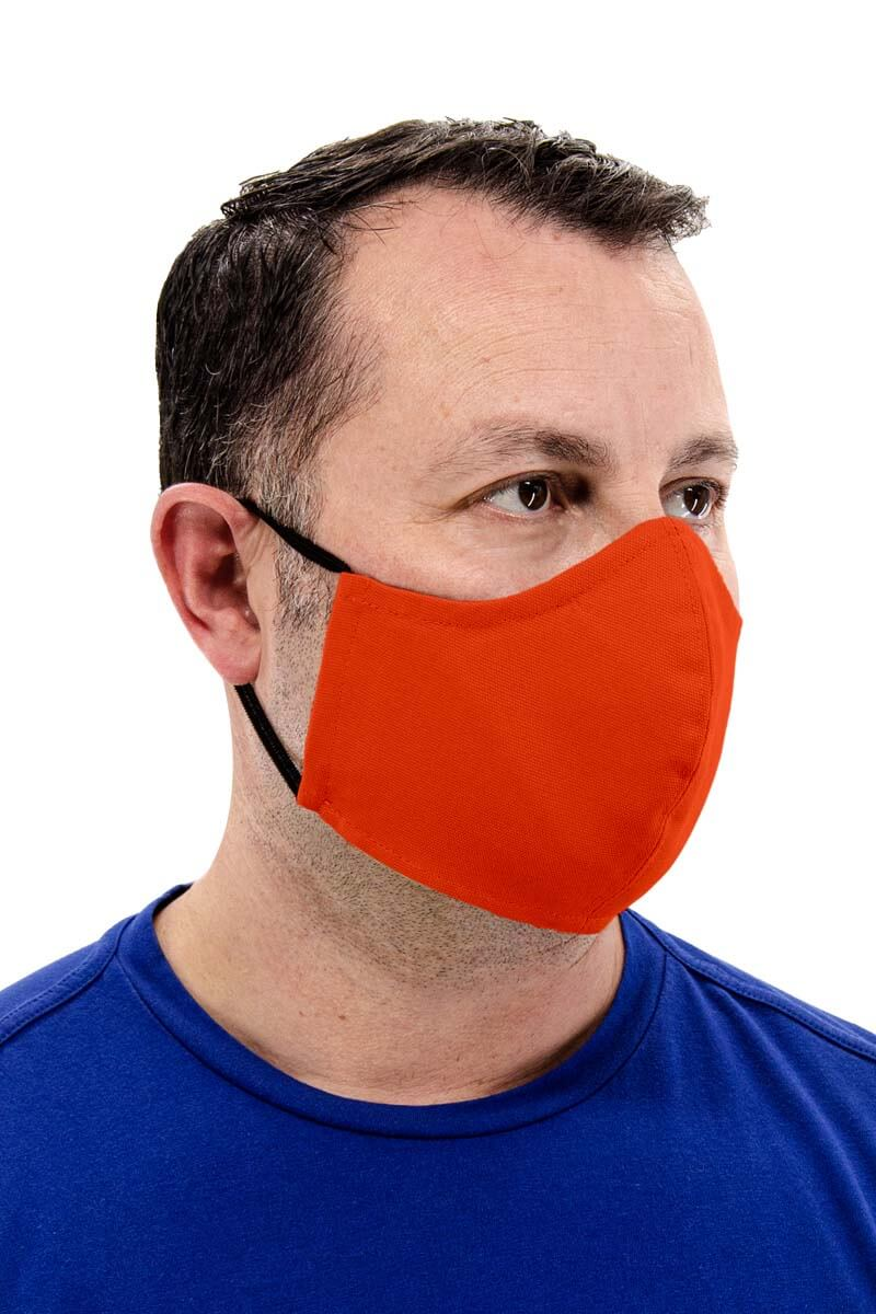 65/35 Poly-Cotton Face Mask - Sunkiss Orange