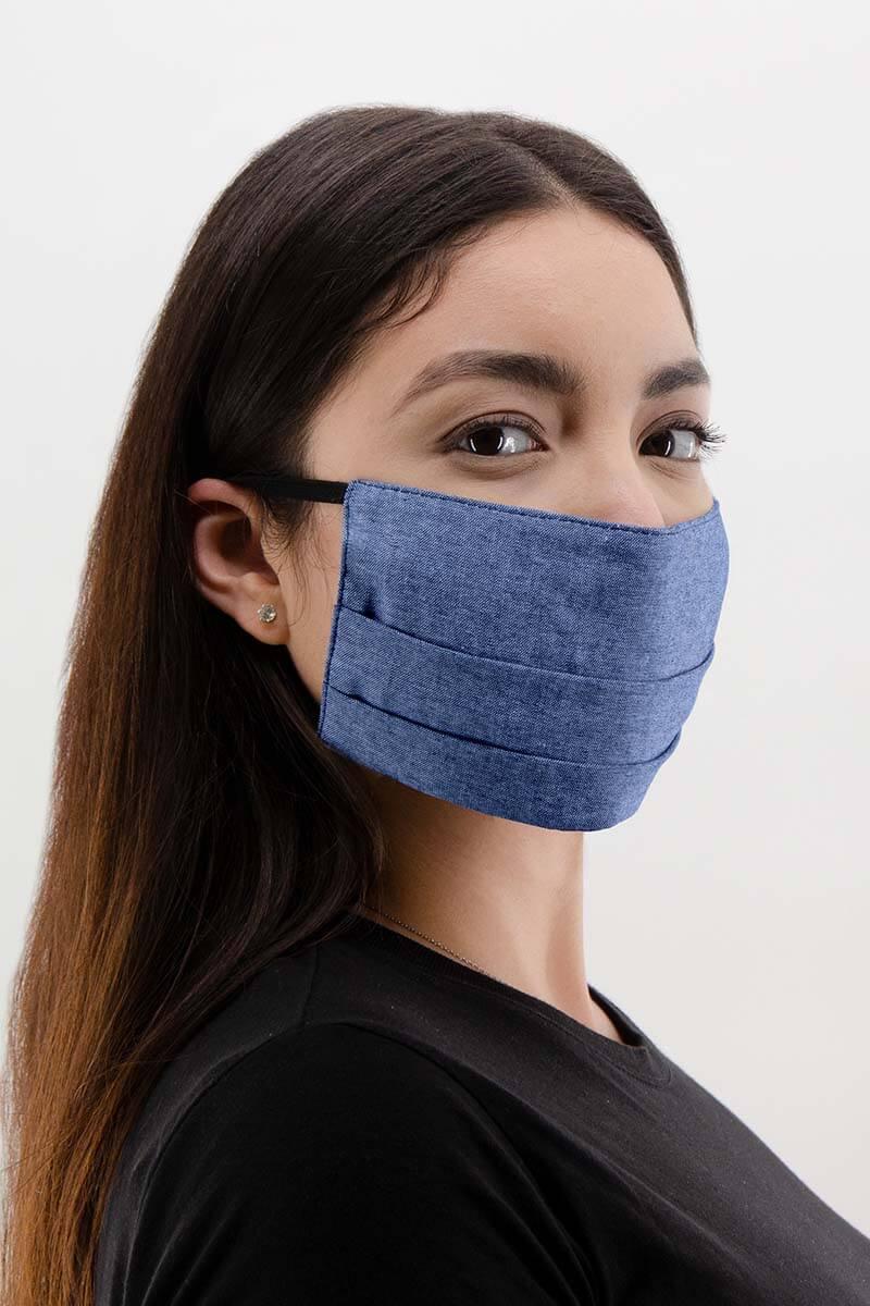 Unisex Pleated 100% Cotton Face Mask