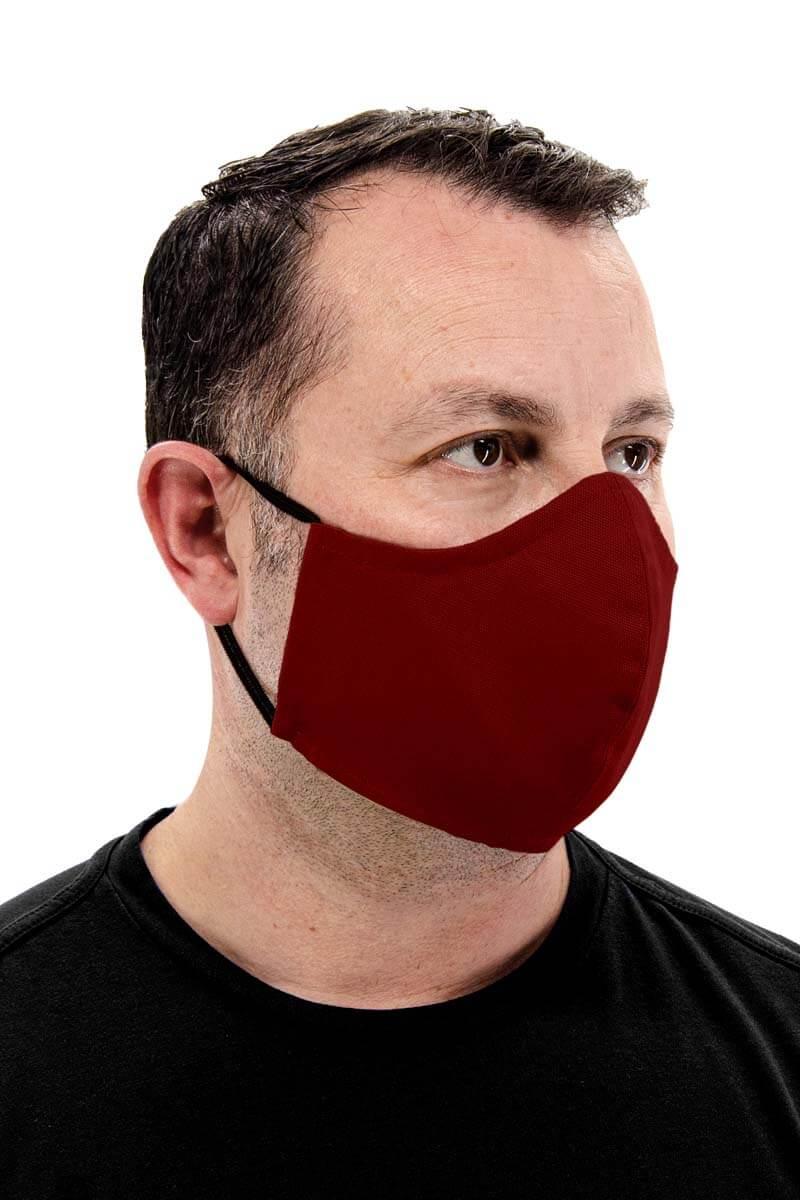 100% Cotton Face mask - Burgundy