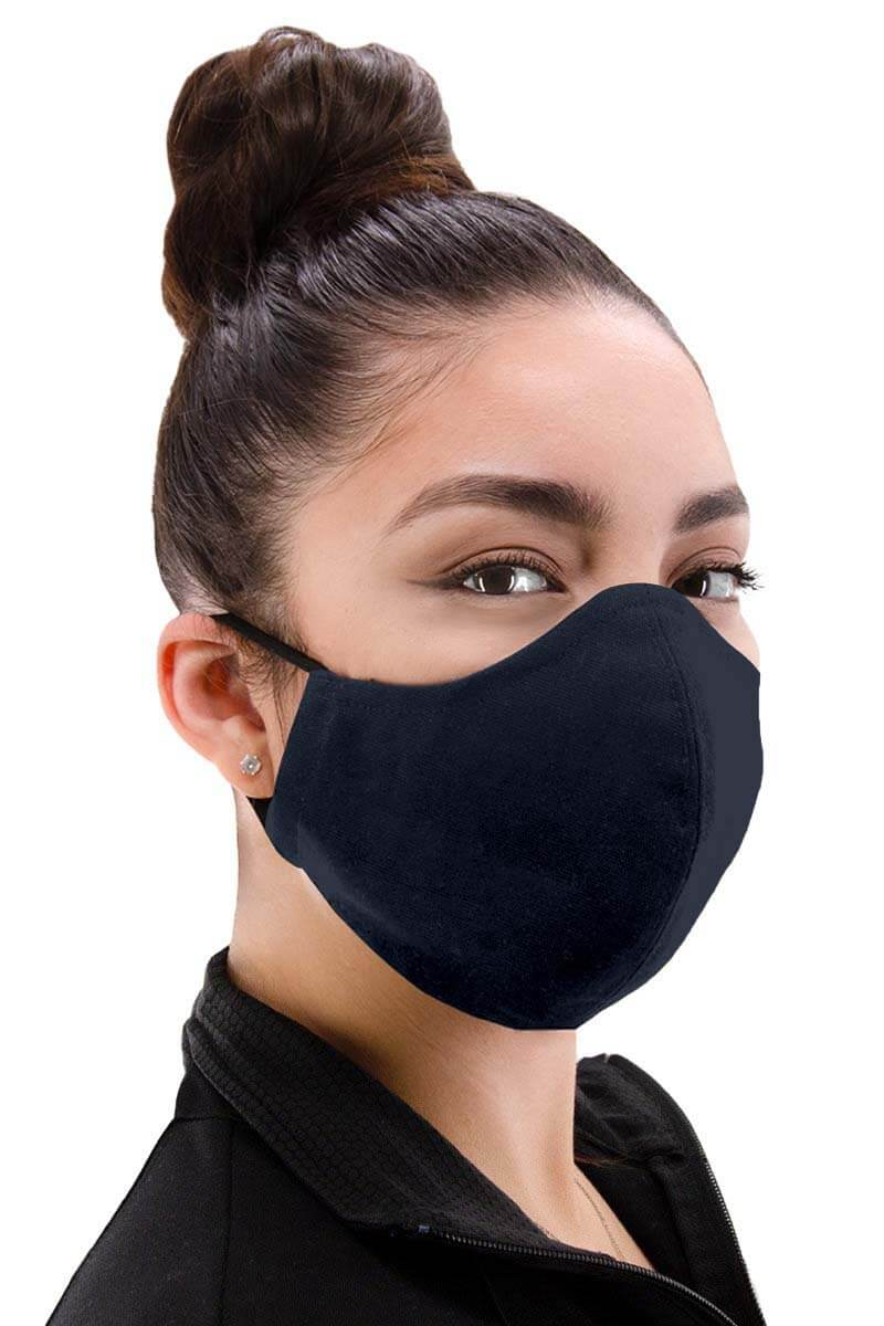 100% Cotton Facemask - Medium Navy Blue
