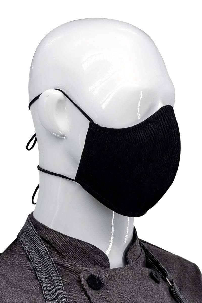 Dual Adjustable Unisex Face Mask - Black
