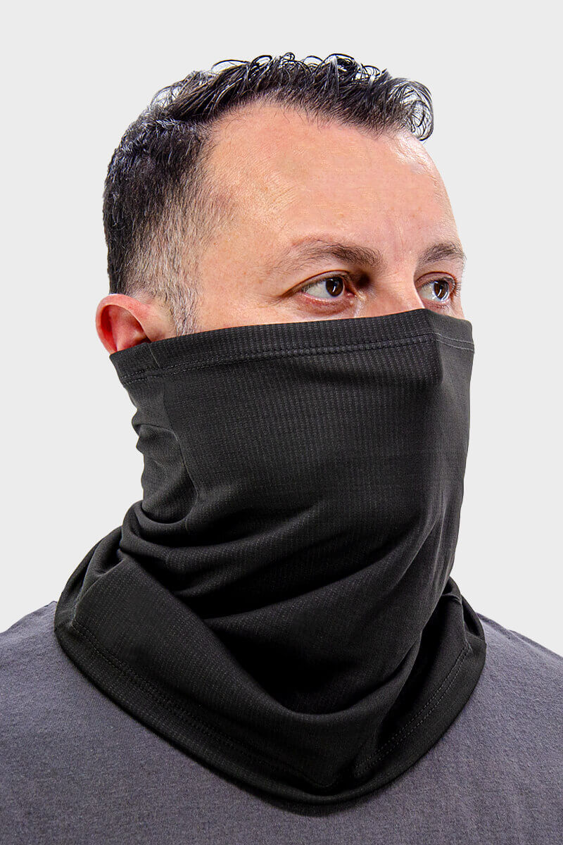 Neck Gaiter - 50/50 Bamboo/Poly Charcoal