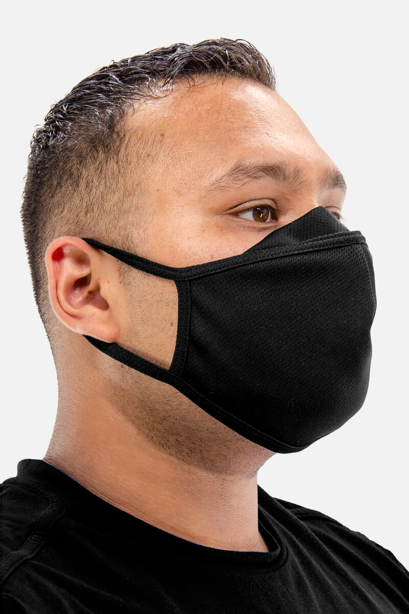 100% Poly Mesh Active Dry Face Mask
